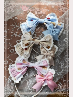 Magic tea party Squirrel couple lolita headbow KC