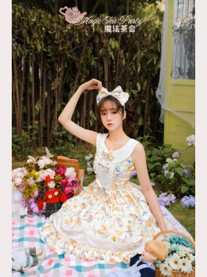Magic Tea Party Cats & Orange Sauce Lolita Dress JSK 1