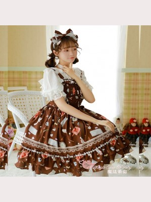 Magic Tea Party Sunny Day & Yummy Food Lolita Dress JSK 1
