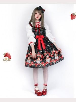 Pumpkin Cat Ichigo Cup Rabbit Lolita Dress JSK