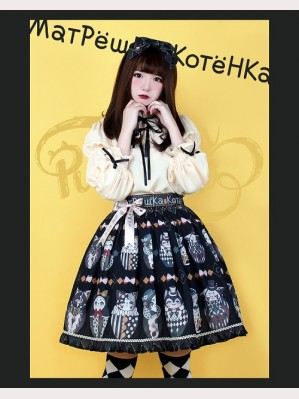 Pumpkin Cat Mатрёшка Kотёнка2018 Lolita Skirt SK