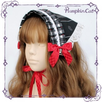 Pumpkin cat Ichigo Cup Rabbit matching headscarf lolita KC