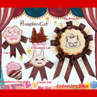 Pumpkin cat Chocolate Chip Cookies Hair Accessories