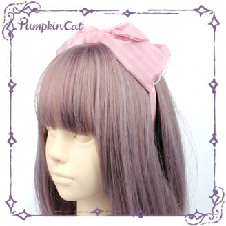 Pumpkin Cat 5 colors lolita Matching Headbow KC