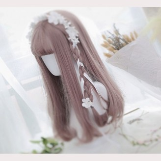 White Flower Lolita Wig Matching Headband