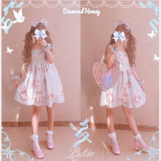 Diamond Honey Crown Rabbits Lolita Dress JSK