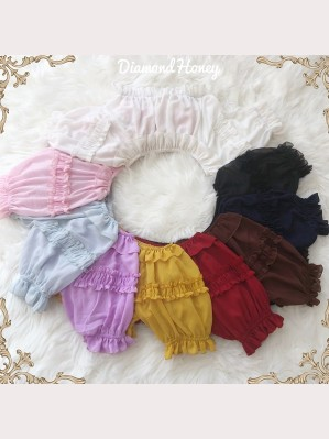 Diamond Honey Off shoulder cropped lolita top 2018