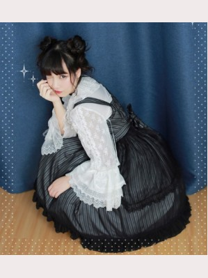 Diamond Honey Striped Lolita Dress JSK