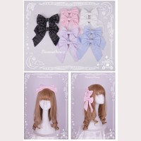 Diamond Honey Striped Lolita Matching Hair Clips x 1 pair