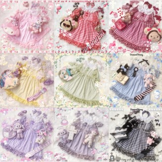 Diamond Honey Summer Plaid Lolita Dress OP 2018