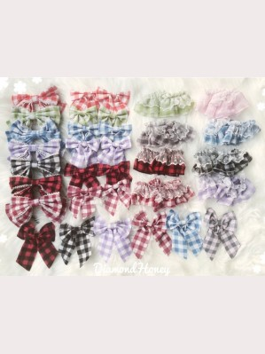 Diamond Honey Summer Plaid Lolita Matching Accessories