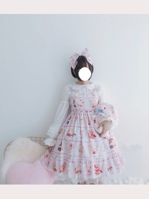 Diamond Honey French bread donut Lolita Dress JSK