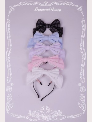 Diamond Honey Striped Lolita Matching Headbow KC