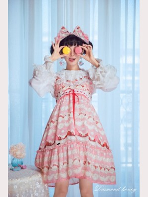 Diamond Honey Cream Strawberries Lolita Dress JSK