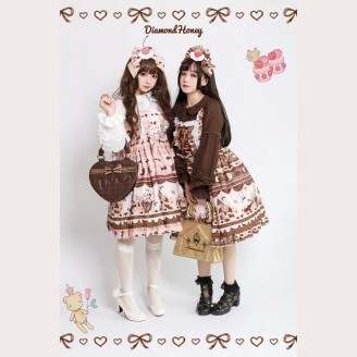 Diamond Honey Gingerbread house Lolita Dress