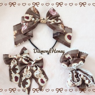 Diamond Honey Gingerbread house Matching Headbow/ Hairclips/ Wristbands