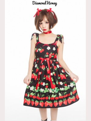 Diamond Honey Strawberries Lolita Dress JSK