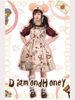 Diamond Honey Detective Bear Lolita Dress JSK
