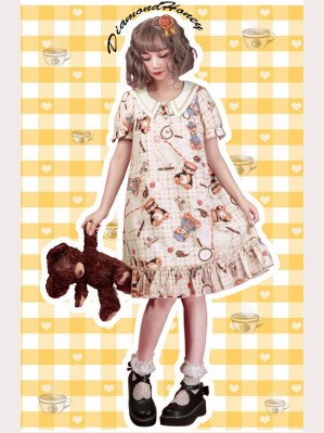 Diamond Honey Detective Bear Lolita Dress OP
