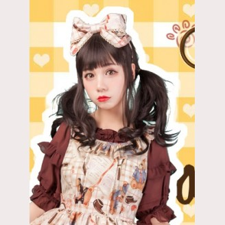 Diamond Honey Detective Bear Lolita Matching Headbow KC