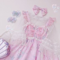 Diamond Honey Rabbit Mermaid Lolita Matching Chiffon Blouse