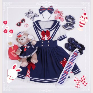 Diamond Honey Summer Navy Lolita Dress OP