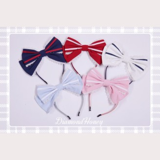 Diamond Honey Summer Navy Matching Headbow/ Hairclips/ Wristbands