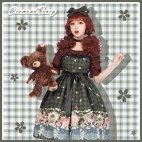 Diamond Honey Teddy Bear Tea Party Lolita Dress JSK