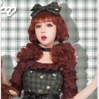 Diamond Honey Teddy Bear Tea Party Matching Lolita Headbow KC