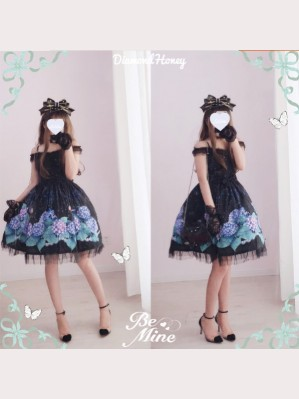 Diamond Honey Hydrangea Lolita Dress JSK