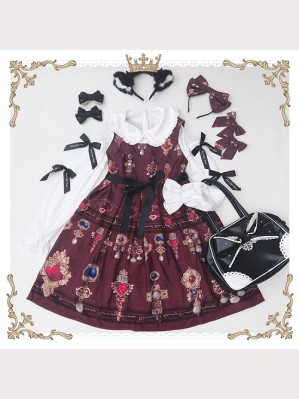 Diamond Honey Gemstone Brooch Lolita Dress JSK (DH45)