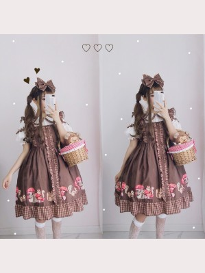 Diamond Honey Squirrel mushroom Lolita Dress JSK