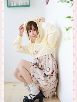 Diamond Honey Detective Bear Hooded Lolita Dress OP (Fall 2018)