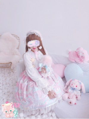 Diamond Honey Snow Ball Lolita Dress JSK & Accessory Special Set