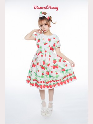 Diamond Honey Strawberries Lolita Dress OP