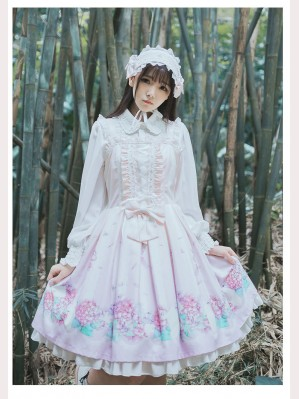 Classic Lolita Floral Dress JSK & KC Set
