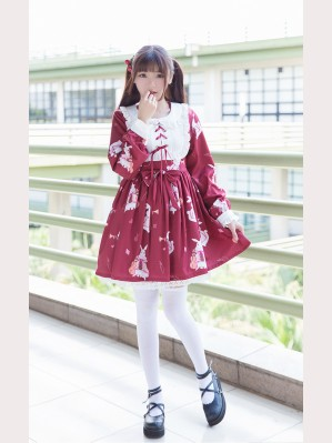 Musical instruments rabbit lolita dress OP (Long Sleeve)