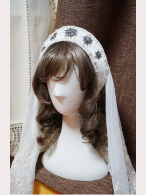 Surface Spell Gothic Lolita jacquard crown with veil