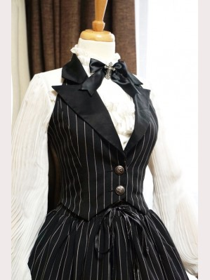Surface Spell Gothic Lolita Boned Striped Vest
