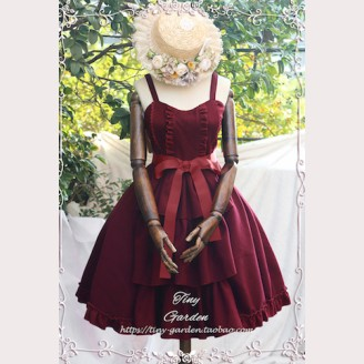 2018 Winter Tiny Garden Serenade Velvet Lolita Dress JSK