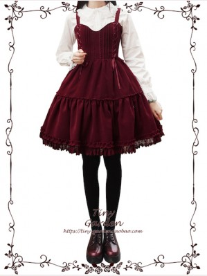Tiny Garden Waltz Velvet Lolita Dress JSK