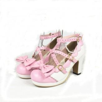c152811ee1bd Cross Straps Lolita Shoes
