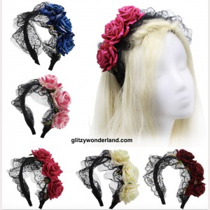 Gothic Rose Lace Headbow KC (AC01)