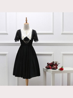 Gothic Lolita Cross Chiffon Dress OP