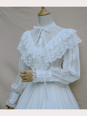 Gothic Lolita Fashion Lantern Sleeve Blouse