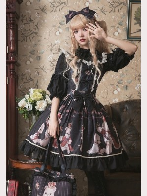 Teddy's Coronation Classic Lolita 3 Ways Jumper Skirt JSK/ SK