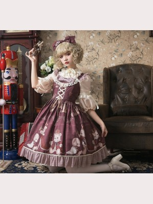 Teddy's Coronation Classic Lolita Dress JSK
