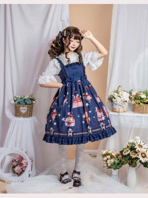 Strawberry dessert sweet lolita dress JSK (DR01)