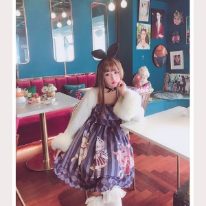 Diamond Honey Alice's Cat Sweet Lolita Dress JSK (DH141)
