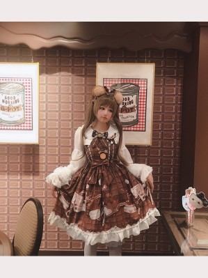 Diamond Honey Chocolate Cosmetics Lolita Dress JSK (DH164)